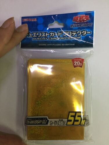 Yugioh Konami Card Sleeves 20th Anniversary Gold Design X55
