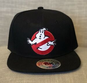faf9a984065 Ghostbusters Logo BK Cap Black Hat Snap Back NEW Ray Ghost Boo ...
