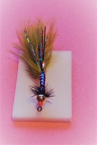 Size 12 B830 Hook 4 X Scotflytyer Leven Blue Damsels Black