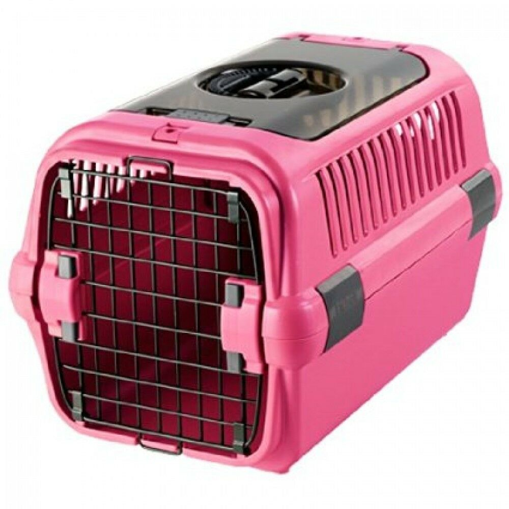 Richell Double Door Pet Pink Caarier Bag, Case M,Comfort Travel for DOGCAT, FS