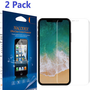 meet a5b19 70485 Details about 2-Pack [No Glass] 0.1mm Full Cover [No Foam] Screen Protector  For iPhone X