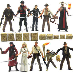 10-Lots-3-75-Indiana-Jones-With-Accessories-Collection-Action-Figures-Boy-Toy