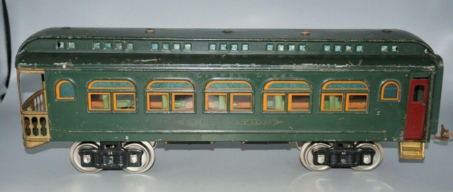 Lionel Original preguerra calibre 430 coche de observación iluminada estándar