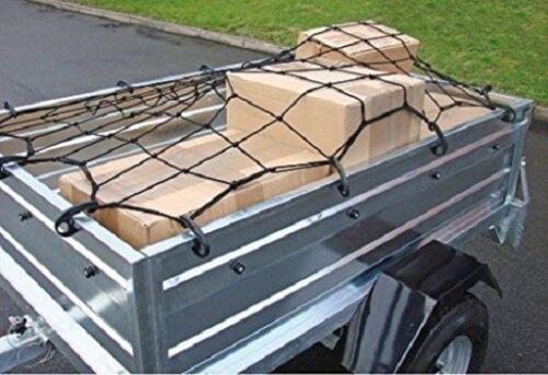 GRANDE 120 CM x 180 cm Stretch RIMORCHIO CARGO NET Boot 12 Ganci PORTABAGAGLI PER AUTO CAMION Rack