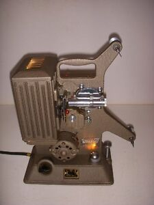 Details about KEYSTONE R-8 VINTAGE 1940'S 8MM MOVIE FILM PROJECTOR W/CASE,  TESTED, WORKS!
