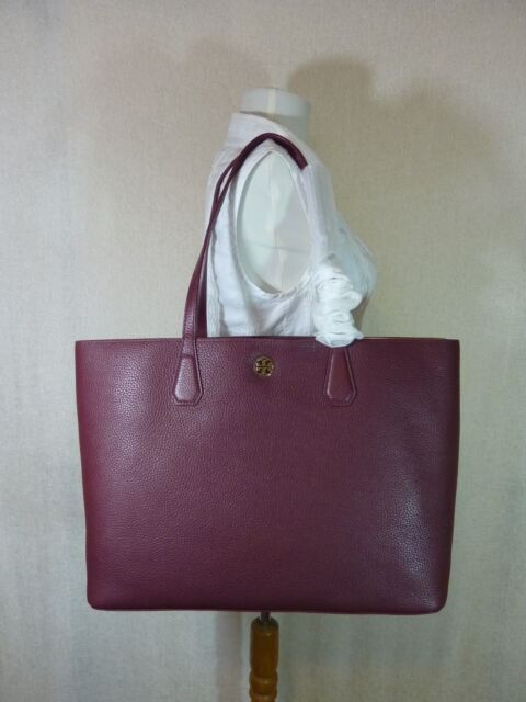 e281b2cab40 Tory Burch Perry Tote Deep Berry Burgundy Dark Wine Leather Last 1 ...