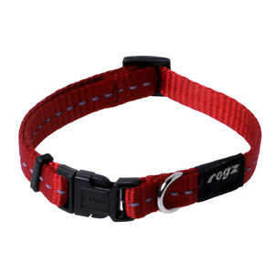 Rogz Dog Utility Side Release Collar - NiteLife Small 8in-12in neck - Red