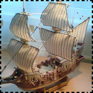 1-100-Scale-English-Galleon-Golden-Hind-Ship-Sir-Francis-Drake-Paper-Model-Kit