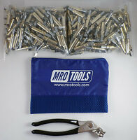 250 3/16 Cleco Sheet Metal Fasteners Plus Cleco Pliers W/carry Bag (k1s250-3/16)