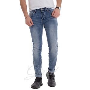Jeans Uomo Pantalone Denim Cinque Tasche Casual Cavallo Basso GIOSAL
