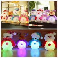 Cute LED Light Snowman Santa Claus Ornaments Christmas Tree Hang Xmas Decoration
