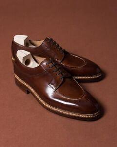 Homme-Fait-a-la-main-Chaussures-en-Cuir-Marron-Goodyear-Cousu-Formelle-robe-Casual-Wear-Bottes