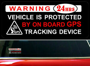 4-x-Warning-Stickers-Car-Vehicle-Window-Protected-GPS-Tracking-Device-Security