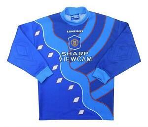 Manchester United 1995-96 Authentic GK Shirt (OTTIMO) L. Ragazzi Calcio Jersey