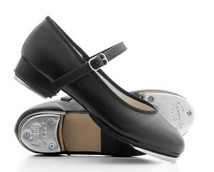 Black-PU-Low-Heel-Ladies-Girls-Bar-Tap-Dance-Shoes-With-Plates-By-Katz-Dancewear