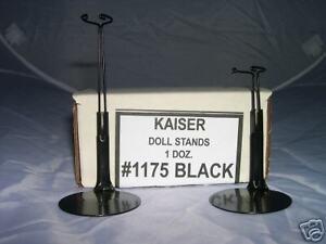 12- MINI  SIZE DOLL STANDS 6 - 7 inch  - BLACK - #1175
