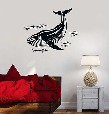 Vinyl Decal Whale Marine Animals Ocean Sea Decor Bathroom Wall Stickers Ig3218 Ebay