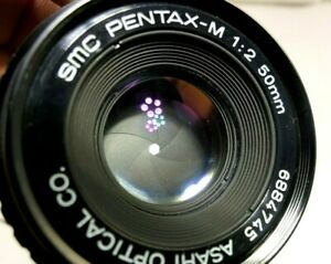 PENTAX-M-SMC-50mm-f2-Manual-Focus-Lens-PK-with-haze-and-spot-of-fungus