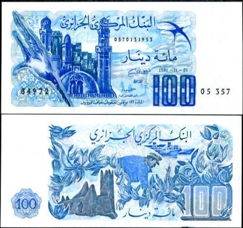 ALGERIA 100 DINARS 1981 P 131 UNC