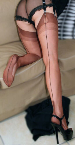 Eleganti Fully Fashioned Stockings-Cuivre//Noir Couture Cubain-Imperfects