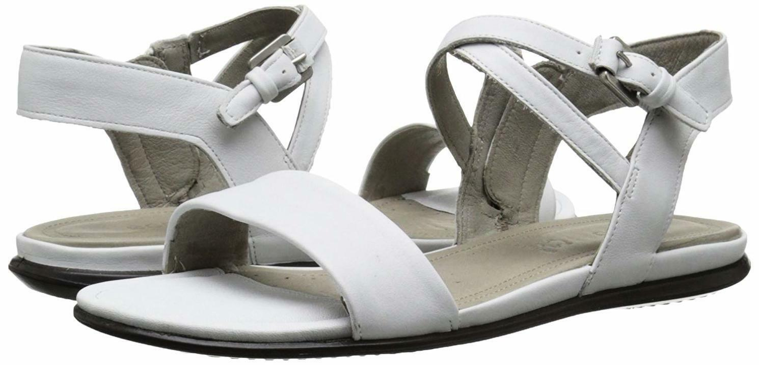 ECCO Womens Touch Ankle Gladiator Sandal - White Leather - EU 42 11 - 11.5