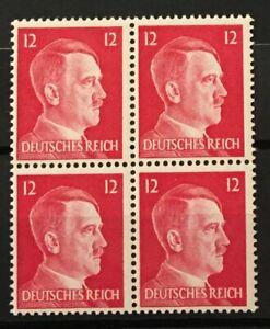 Germany Third Reich Block of 4 Adolf Hitler  MI # 788  MNH