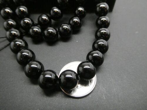 "Natural Black Tourmaline Gemstone AAA High Grade Round 8mm Bead Strand 16/"""