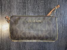 Michael Kors 32T7GAFW4B Adele Logo Smartphone Wallet for Women - Brown