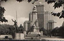 ANTIGUA POSTAL MADRID . PLAZA DE ESPAÑA  . CERVANTES . MAS EN MI TIENDA CC1590