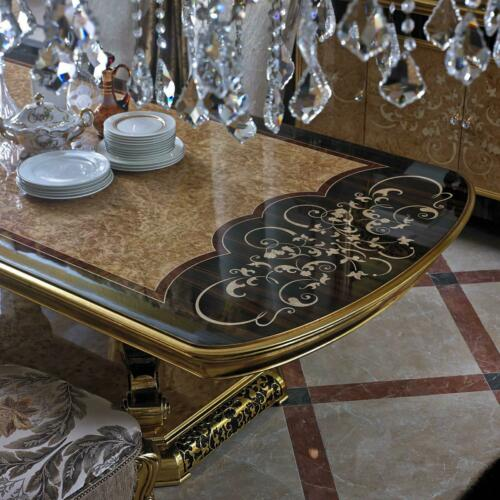 1x Chaise Tron Fauteuil Set Manger Design Bois Style Antique Baroque Rokoko E61