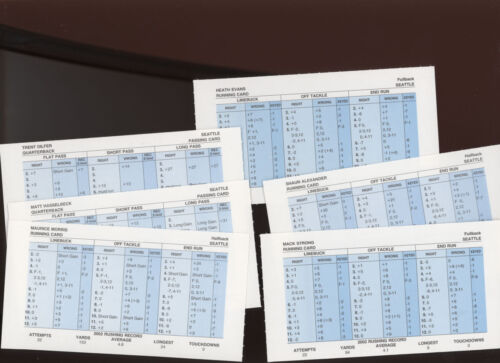 Details about  /Strat-O-Matic Football 2002 Seattle Seahawks 18 cards NrMINT