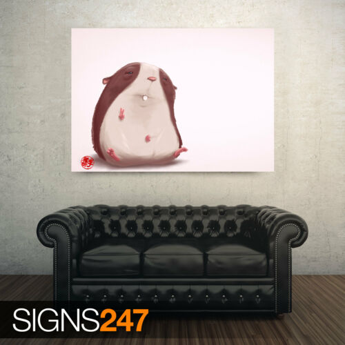 AD548 Photo Picture Poster Print Art A0 to A4 FUNNY HAMSTER FUNNY POSTER