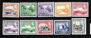 CYPRUS 1938 KGVI PICTORIALS PART SET MLH