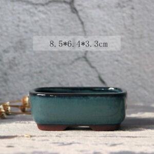 Rectangular Chinese Blue Glazed Flower Pots Landscaping Garden Home Decoration