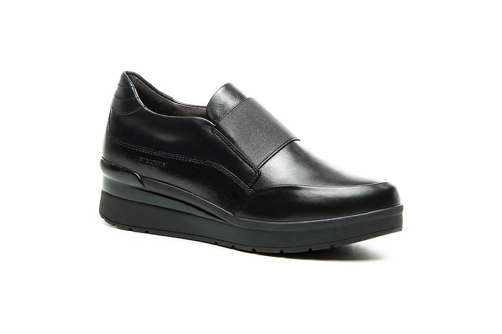 Stonefly scarpe donna shoes woman CREAM 1 LAMINATED LTH 210235 000 nero