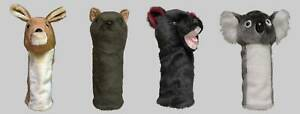 Set-of-4-Marsupial-Animal-Golf-Headcovers-1W-3W-5W-Hybrid-Gift-Accessories