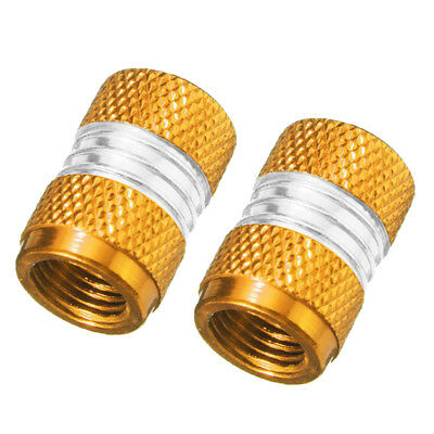 4PCS Golden Anodized Aluminum Schrader Valve DUST CAP For Car /& Bike