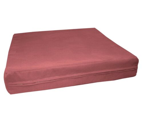 mb58t Dusty Pink Flat Velvet Style 3D Box Thick Sofa Seat Cushion Cover*Custom