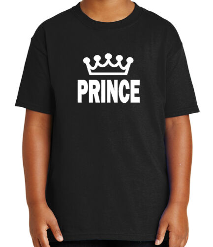 Prince and Crown Kid/'s T-shirt His Cool Couple Matching Tee for Youth 1638C
