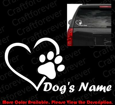 I Love my Doggy Personalised Bumper Sticker