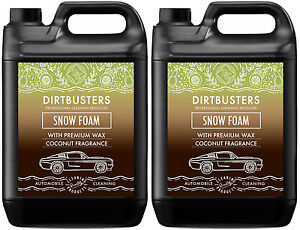 Ph-Neutral-Coconut-Snow-Foam-shampoo-high-gloss-wax-coconut-fragrance-2-x-5L