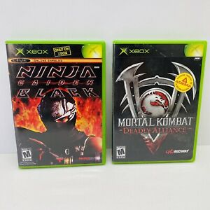 2-Game-Lot-Ninja-Gaiden-Black-amp-Mortal-Kombat-Deadly-Alliance-CIB-Xbox-Tested