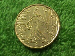 FRANCE 20 Cents 2007 UNC