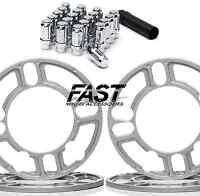 4 Universal Wheel Spacers 5mm And Lug Nuts 4x100 4x114 5x100 5x114 4x4.5 5x4.5