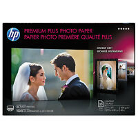 Hp Premium Plus Photo Paper, 75 Lbs., Glossy, 11 X 17, 25 Sheets/pack Cv065a on sale