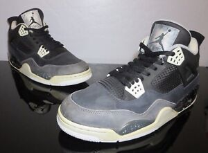huge selection of 0f861 2d816 Details about Nike Air Jordan Retro 4 IV FEAR PACK Blk/Wht/Plat Grey  626969-030 Size 13 Used
