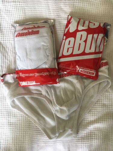 BRANDNEU Herren Unterhose aussiebumBrief Original ClassicWeiß