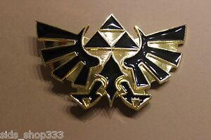 Nintendo-THE-LEGEND-OF-ZELDA-Black-and-Gold-Triforce-Belt-Buckle