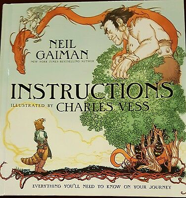 Instructions by Neil Gaiman 2010, Hardcover, 1st edition and 1st printing