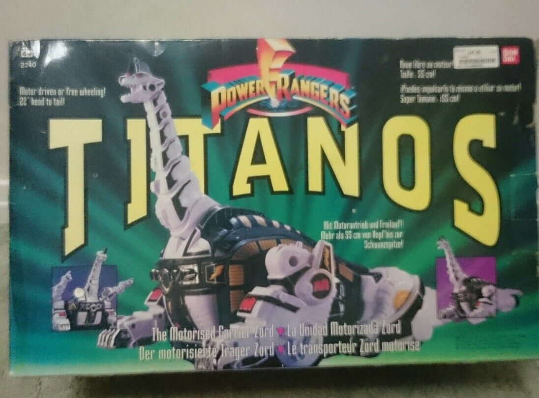 POWER RANGERS MIGHTY MORPHIN TITANOS CARRIER ZORD COMPLETE BOXED NEW